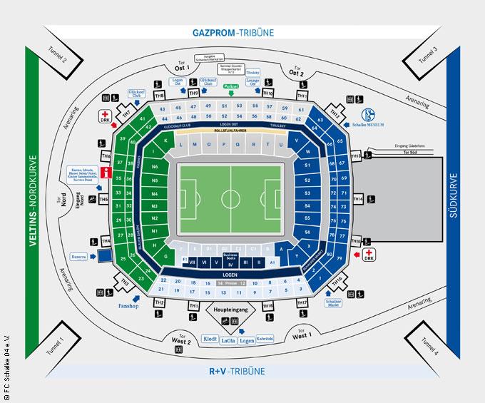 Sitzplan arena oberhausen Events in