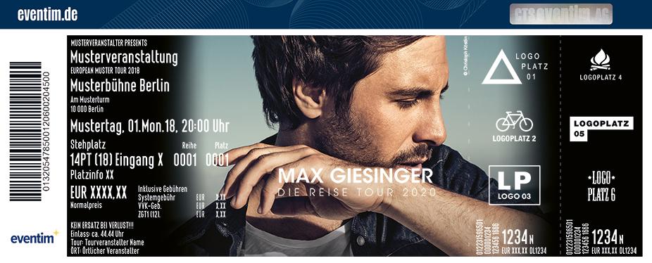 Max Giesinger Eventim