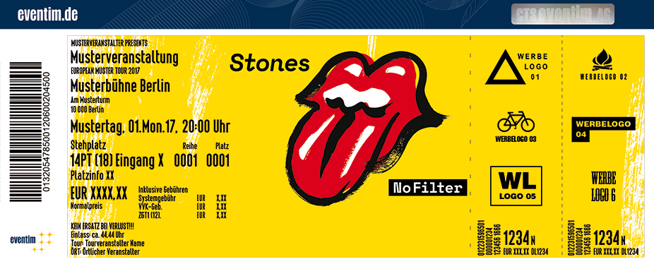 The Rolling Stones Tickets: ESPRIT Arena Düsseldorf ...