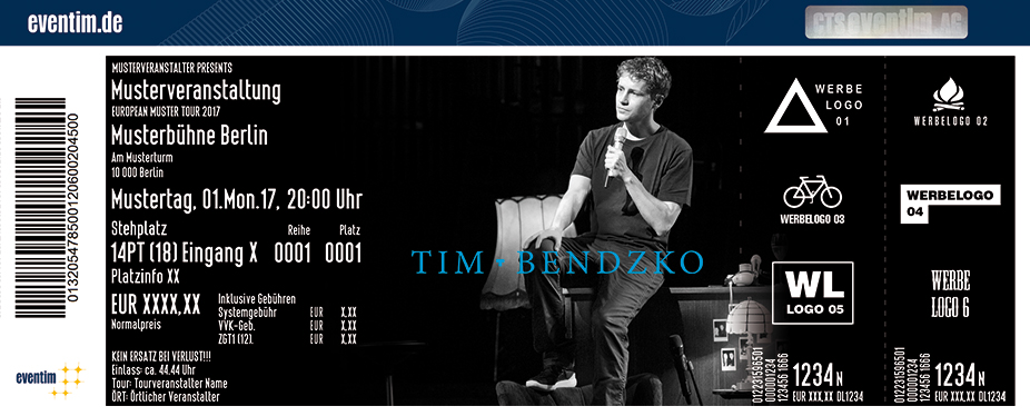 Tim Bendzko Tickets Ticket Online Tour